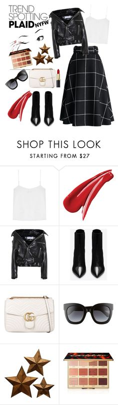 """""""Untitled #180"""" by sandra-sivache on Polyvore featuring T By Alexander Wang, Balenciaga, Yves Saint Laurent, Gucci and tarte"""