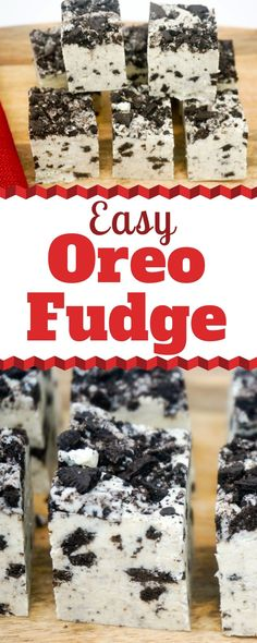 Oreo Fudge is a quick and easy Cookies and Cream dessert that is perfect for your holiday candy table or for gift-giving. The sweet and creamy fudge has a subtle cheesecake flavor and it's topped with loads of crushed Oreos. Cookies And Cream Fudge, Oreo Cheesecake Cookies, Oreo Fudge, Fudge Cookies, Keto Cheesecake, Easy Christmas Candy Recipes, Easy Candy Recipes, Fudge Recipes, Holiday Candy