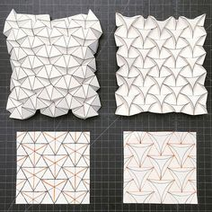27 Great Photo of Origami Tessellations Pattern . Origami Tessellations Pattern Ron Resch Tessellation And Curved Version Creativepaper Origami Ball, Origami And Kirigami, Origami Paper Art, Origami Stars, Diy Paper, Paper Crafts, Origami Boxes, Dollar Origami, Origami Flowers