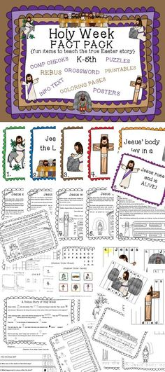 This Easter Holy Week FACT PACK Includes A Variety Of Activities And Printables For K