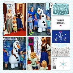 Disney's Frozen meet and greet digital Project Life layout featuring Project Mouse: Ice by Britt-ish Designs and Sahlin Studio