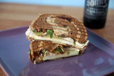 turkey brie and apple panini