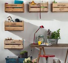 Decoración con cajas de madera / #wood #box #organisation