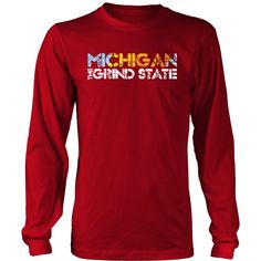 Michigan The Grind State Unisex District Long Sleeve Shirt