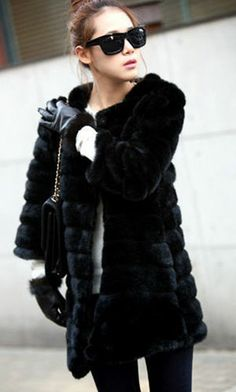 I just bought the exact same fur coat & I'm in LOVE with it!