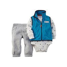 Carters 3Piece Vest Set 3 Months Blue -- You can get additional details at the image link.