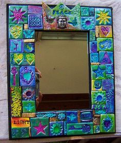 Image result for polymer clay mosaic