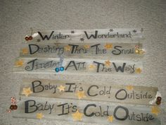 rustic signs