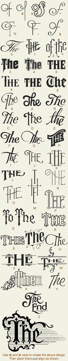 The Different fonts