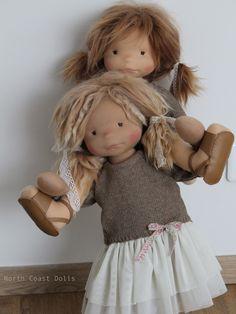 """Salomé 18"""" handmade One of a Kind doll"""