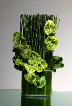 Send Bamboo Behemoth in Los Angeles, CA from LA Premier, the best florist in Los Angeles. All flowers are hand delivered and same day delivery may be available. Hotel Flower Arrangements, Contemporary Flower Arrangements, Tropical Floral Arrangements, Ikebana Flower Arrangement, Ikebana Arrangements, Beautiful Flower Arrangements, Flower Centerpieces, Flower Decorations, Beautiful Flowers