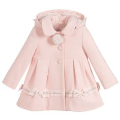 Girls Pale Pink Coat for Girl by Lapin House. Discover more beautiful designer Coats & Jackets for kids online Toddler Boy Fashion, Kids Fashion, Fashion Outfits, Little Girl Dresses, Girls Dresses, Latest Dress For Girls, Designer Kids Clothes, Designer Coats, Kids Dress Wear