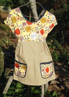 Tunic ~ dottie angel inspired from Studio Jardine 50 Style Dresses, Bella Dresses, Little Dresses, Vintage Dresses, Vintage Outfits, Dottie Angel, Diy Clothes, Clothes For Women, Add Sleeves
