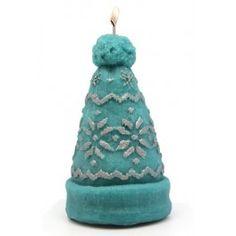 Molde para #hacervelas, Gorro Lana Grande. Con este molde podrás hacer estupendas velas de invierno, especial #navidad. Disponible en Gran Velada.