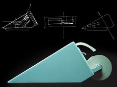 Mario Bellini, preparational sketches for calculator Logos 68, 1973