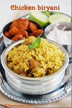 7aum Suvai: Chicken biryani (pressure cooker method)