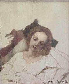 Carl Joseph Begas - Veronika Begas on her death bed
