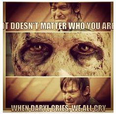 I cried too