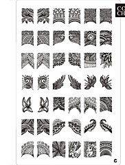 42 Patroon Nail Art Stamp Stamping Afbeelding Sjabloon Plaat