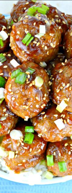use lentil mushroom meatball recipe-Teriyaki Meatballs- these are super easy and crazy delicious! Great spices and a generous yummy, homemade sauce. Great as an appetizer or equally wonderful as a main course! Meat Recipes, Asian Recipes, Appetizer Recipes, Dinner Recipes, Appetizers, Cooking Recipes, Meatball Recipes, Meatball Subs, Cooking Courses