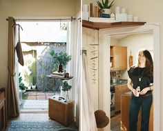 Small Space, Big Style: Brunch At Home With A Venice Designer - like the shelf above the door