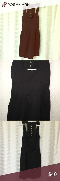Little Black Dress Form fitting. Super fun dress with pockets and small cut out in the back. Mini dress Jack Dresses Mini