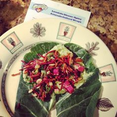 Photo of our Spicy Avocado Collard Wraps shared via instagram from Amanda H.!