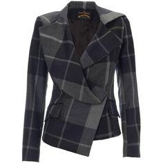 Vivienne Westwood Vivienne Westwood Grey/Blue Chevalier Jacket ($750) via Polyvore
