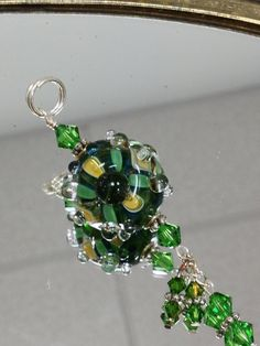 Handmade lampwork boro glass pendant green by nycfashionconnection, $28.00