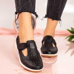 Pantofi Piele dama negri MDL00295 Mary Janes, Sneakers, Casual, Shoes, Fashion, Tennis, Moda, Slippers, Zapatos