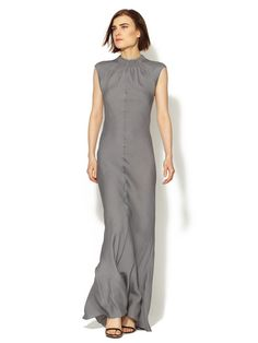 Hammered Silk Cut-Out Back Gown by Vera Wang on Gilt.com