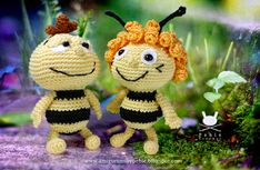 Funny Amigurumi by Pebie: Willy and Maya pattern. FREE PDF, but not in English, 1/15.