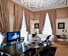 Neo Classic Style with Art Deco Elements, Light Room Decorating Ideas