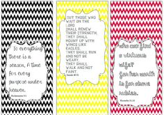 Free Printables - Bible Verse bookmarks