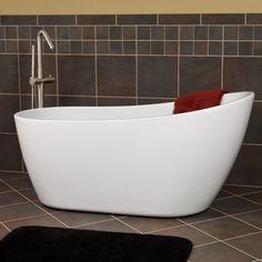 """60"""" Sheba Freestanding Acrylic Slipper Tub- LOVE this tub!"""
