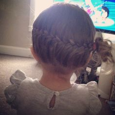 Adorable french braid hairstyle for toddlers! Done by myself, on my beautiful Addalie.