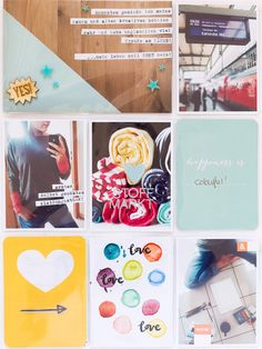 I love the water color spots and the half woodgrain half blue card. Project Life Planner, Project Life Album, Life 2016, Life Page, Studio Calico, Watercolor Cards, Life Inspiration, Happy Planner, Scrapbooking Layouts