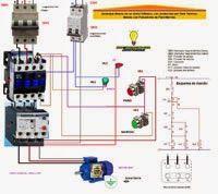 Esquemas eléctricos: Arranque directo de un motor tífasico,con protecci...