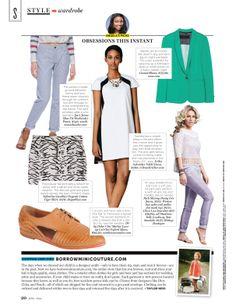 Erika Schrieber Nikki Black & White Shift Dress in Northern Virginia Magazine.