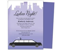 Printable DIY Bachelorette Party Invitations Template: Limo Bachelorette Party Invitation Templates Design