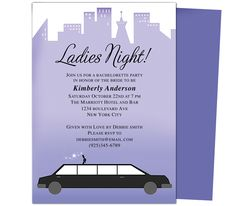 Printable DIY Bachelorette Party Invitations Template: Limo Bachelorette Party Invitation Templates Design