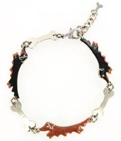 Long Haired Dachshund & Bones Silver & Enamel Bracelet AJ, http://www.amazon.com/dp/B008GTIQ4Y/ref=cm_sw_r_pi_dp_2k1.pb0P2HZRY
