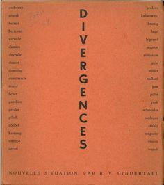 "First ""Divergences"" exhibition catalogue cover, Galerie Arnaud, Paris, 1954."