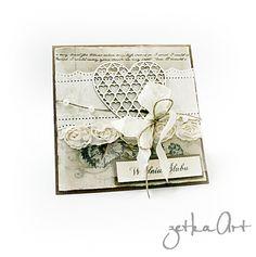 Kartka ślubna – Kartki ślubne – Artillo Card Wedding, Decorative Boxes, Scrapbooking, Marriage Invitation Card, Scrapbooks, Decorative Storage Boxes, Memory Books, Scrapbook, Wedding Postcard