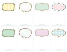 Sheek Shindigs: Pretty Printable Place Cards