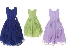 Chiffon flower girl dress royal blue flower girl by OnlyuDress, $50.00