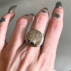 The Rosas signet ring  Available @asraigarden #juliocuellarhandmade