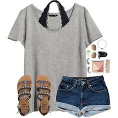 A fashion look from March 2016 featuring H&M t-shirts, Billabong sandals and Swell bracelets. Browse and shop related looks.