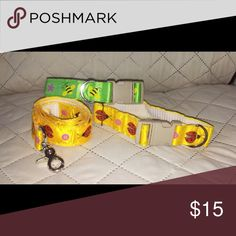Two dog collars and one leash. in great condition never used. Other