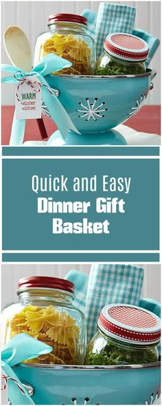 Quick and Easy Dinner Gift Basket - 70+ Inexpensive DIY Gift Basket Ideas - DIY Gifts - Page 2 of 14 - DIY & Crafts